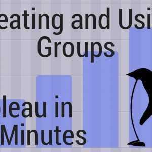 Tableau in twee minuten - Groepen maken en gebruiken