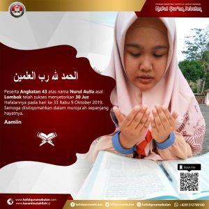 Hafal-Quran-Sebulan angkatan-ke-43-Khatam-30-Juz
