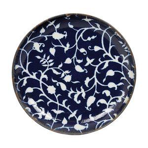 Tokyo Design Studio Fleur de Ligne bord donker blauw Ø15,5cm