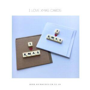 I Love Xmas Card by AniMac Design