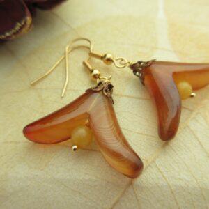 Agate Flower Earrings by Indigo Berry