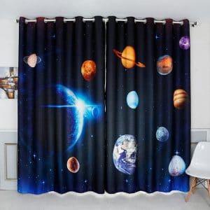 Melkweg / Planeten 3d gordijn