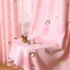 Prinses kasteel gordijnen roze