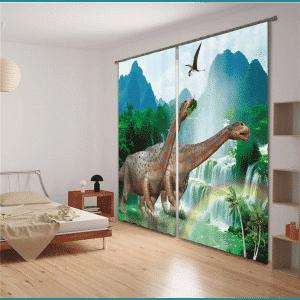 Dino Diplodocus 3D gordijnen