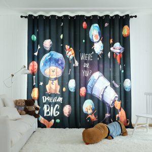 """Ruimte Planeten gordijnen kinderkamer """"Dream Big"""""""