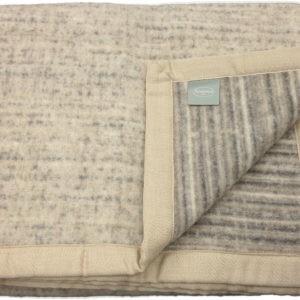 Coperta di lana matrimoniale Somma Darling beige