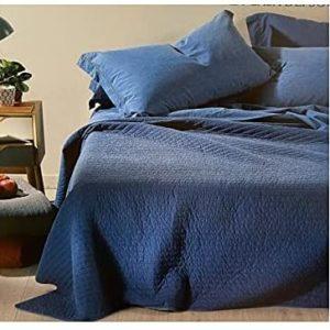 copriletto trapuntato caleffi jeans blu