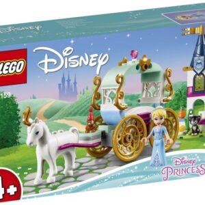 Πήγαινε στο χορό με μια άμαξα με άλογο μαζί με την Πριγκίπισσα της Disney Σταχτοπούτα και διασκέδασε παίζοντας τη γάτα και το ποντίκι με τις χαριτωμένες LEGO® φιγούρες ζώων στο μικρό κάστρο.