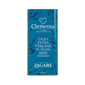 Olio Extravergine 100% Italiano - Le Zagare Latta Fronte 5Litri