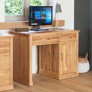Mobel Oak Single Pedestal Desk