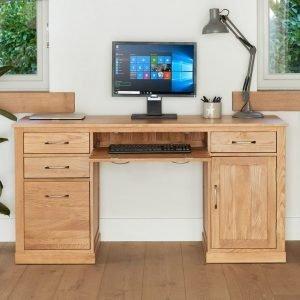Mobel Oak Double Pedestal Desk