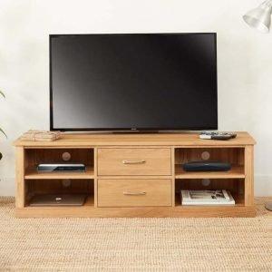 Mobel Oak Mounted TV Cabinet
