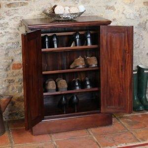 La Roque Mahogany Shoe Cupboard