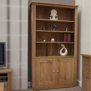 Burniston Oak 2 Door Bookcase