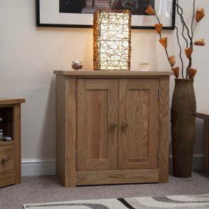 Burniston Oak Printer Cabinet