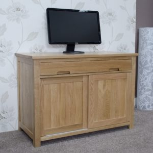 Harwell Oak Office Hideaway Desk
