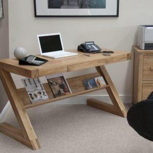 Harwell Oak Z Office Desk