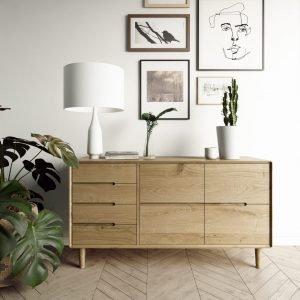 Scandic Oak Large Sideboard