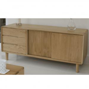Scandic Oak 3 Drawer Sideboard