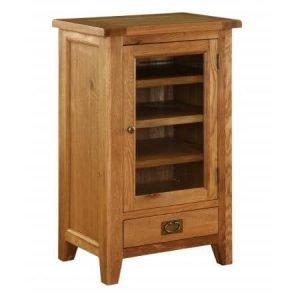 Edmonton Premium Oak Hi-Fi Cabinet