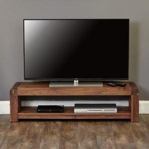 Shiro Walnut Low Widescreen TV Unit