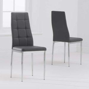 Carolina Grey PU Dining Chair