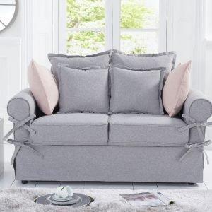 Celia Grey Linen 2 Seater Sofa