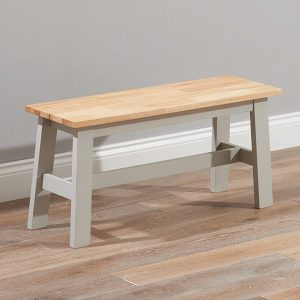 Chichester Oak & Grey Small Bench