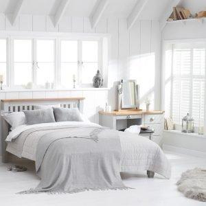 Sandringham Oak And Grey King Size Bed Frame