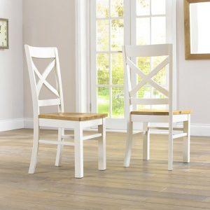 Cavanaugh Cream & Oak Chair