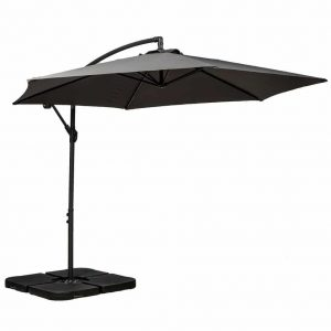 Royalcraft Grey 3m Cantilever Powder Coated Parasol