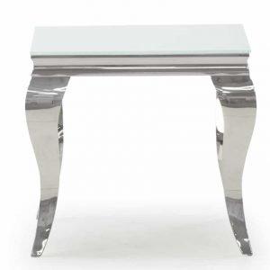 Louis Lamp Table - White