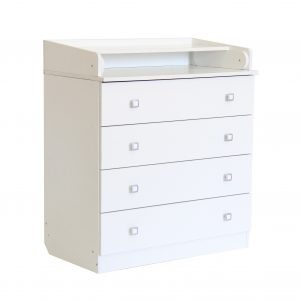 Kids 4 Drawer Changing Board - White