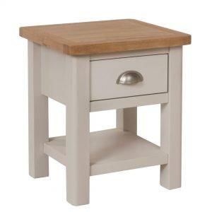 Laverton Oak 1 Drawer Lamp Table