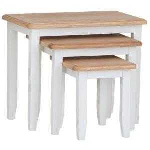 Burrill Oak Nest of 3 Tables