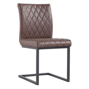 Diamond Stitch Brown Dining Chair