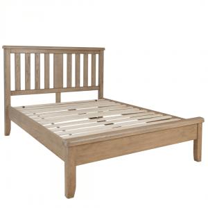 Ryedale Oak 6'0 Bed with Wooden Headboard