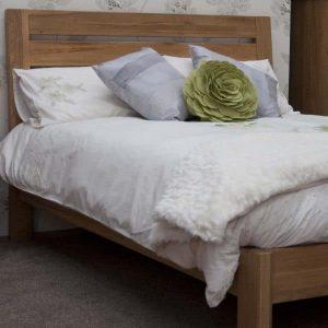 Burniston Oak Slatted Super King Bed