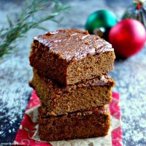 Healthy Oat Gingerbread {vegan, oil-free, gluten-free, flourless}