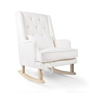 Chaise berçante blanc avec bois Royal Rocker Rocking Seats