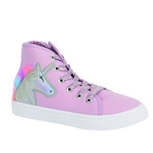 unicorn high top purple sneakers