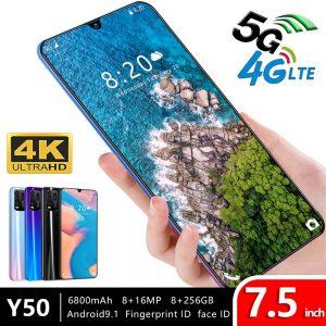Global Version Y50 7.5-Inch 8GB RAM 6800mah Send Mobile Phone Case 4G LTE Smartphone Free Ship