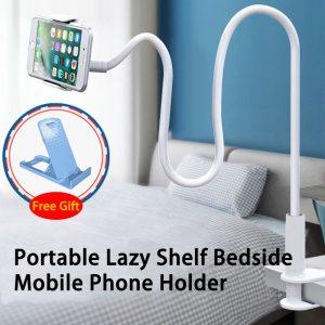 360 Clip Mobile Phone Holder Stand Portable Flexible Lazy Bed Desktop Bracket Mount Stand Base bracket Support 75cm