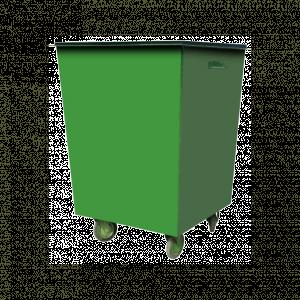 Контейнер металлический 0,75 куб.м (1,5мм) с колесами и крышкой