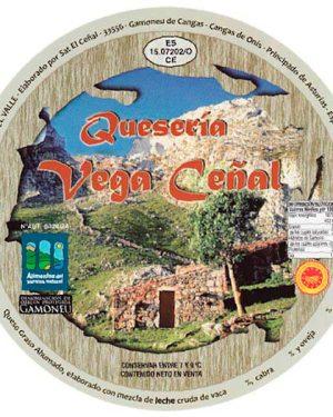 Cuña de queso Gamoneu vega ceñal, queso azul asturiano