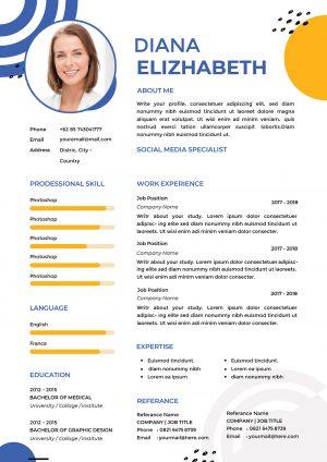 Hostess CV Design