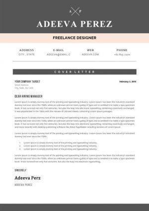 Designer Cover Letter Sample Template