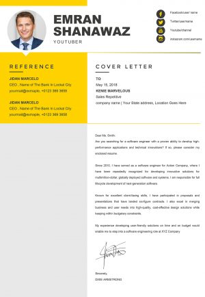 Professional HR Management Cover Letter Word Template