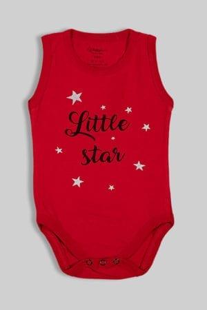 """בגד גוף גופייה אדום """"Little Star"""""""