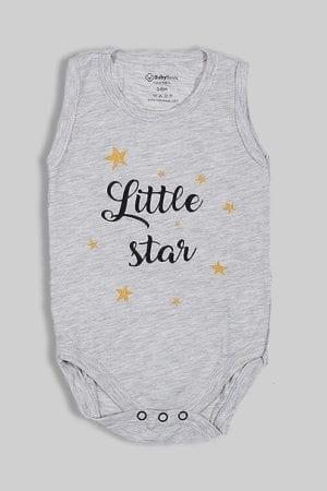 """בגד גוף גופייה אפור """"Little Star"""""""